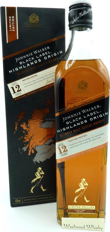 Johnnie Walker 12 Jahre Highlands Origin