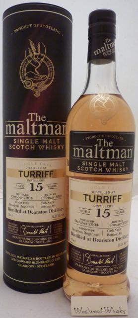 Deanston 15 Jahre Maltman Abfüllung 2004/2020 Turriff