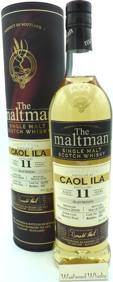 Caol Ila 11 Jahre Maltman Abfüllung 2009/2021